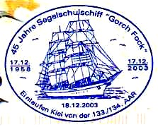 Gorch Fock stamp